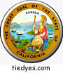 Great Seal of California Pin-Back Button
