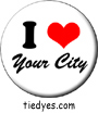 I Heart Your City Custom Pin-Badge Buttons