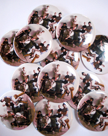 Custom Buttons - Shout Out Louds 2.25 inch White Custom Buttons