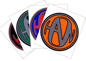 "5"" Hanson Logo Stickers"
