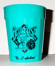 Green Blue Rose Cafe Cup