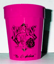 Pink Blue Rose Cafe Cup