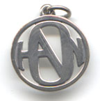 HANSON LOGO PENDANT fashioned by James Avery pendant detail