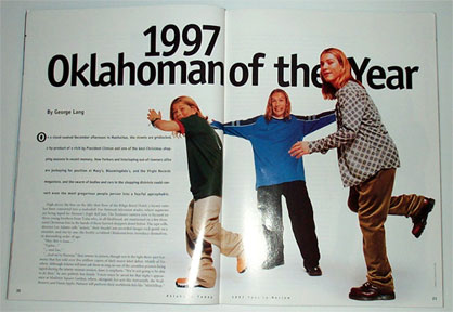 Hanson 1997 Oklahoman of the Year