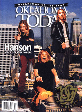 Hanson on the cover of Oklahoma Today