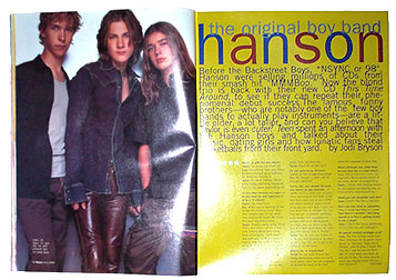 Hanson in Teen Magazine Original Boy Band