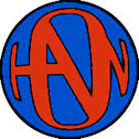 Blue/Red Hanson Logo Button