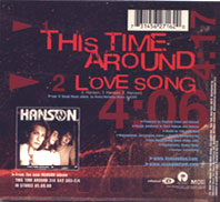 This Time Around CD Single Back w/ Love Song