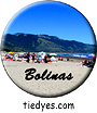 Bolinas Beach, West Marin County, CA Button, Bolinas Beach, West Marin County, CA Pin-Back Badge,  Bolinas Beach, West Marin County, CA Pin