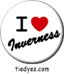 I Heart Inverness Button, I Heart Inverness Pin-Back Badge, I Heart Inverness Pin