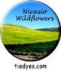 Nicasio Wildflowers, West Marin County, CA Button, Nicasio Wildflowers, West Marin County, CA Pin-Back Badge,  Nicasio Wildflowers, West Marin County, CA Pin