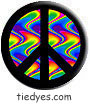 Black Wavy Peace Political Magnet (Badge, Pin)