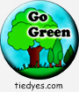 Go Green Environmental Global Warming Democratic Political Pin-Back Magnet