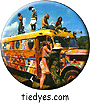 Woodstock Hippie Bus Groovy Hippy Pin Badge Button