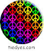Mini Peace Signs Political Magnet (Badge, Pin)
