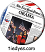 Obama NY Times Democratic Presidential Magnet (Pin, Badge) Magnet