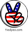 USA Peace Hand Political Magnet (Badge, Pin)