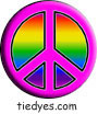 Pink with Rainbow Peace Political Magnet (Badge, Pin)