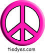 Pink Peace Sign Political Magnet (Badge, Pin)