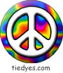 Psychedelic White Peace Sign Magnet