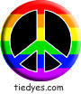 Rainbow Black Peace Sign Political Magnet (Badge, Pin)