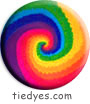 Rainbow Spiral Button (Badge, Pin)