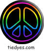 Rainbow Outline on Blk Political Magnet (Badge, Pin)