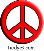 Red Peace Sign Political Magnet (Badge, Pin)