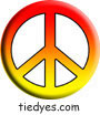 Hot Color Fade PeacePolitical Magnet (Badge, Pin)