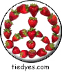 Strawberry Peace Sign Veggie for Peace Magnet