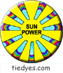 Sun Power Environmental Global Warming Democratic Political Pin-Back Magnet