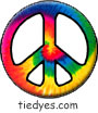 Rainbow Tie Dye Spiral Peace Sign Magnet