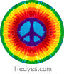 Tie Dyed Peace Sign Political Magnet (Badge, Pin)