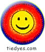 Tie Dye Happy Face Button (Badge, Pin)