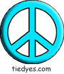 Turquoise Peace Sign Political Magnet (Badge, Pin)