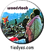 Woodstock Couple Groovy Hippy Pin Badge Button