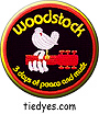 Woodstock Patch Groovy Hippy Pin Badge Button