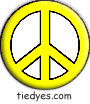 Yellow Peace Sign Political Magnet (Badge, Pin)