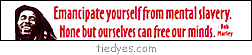 Emancipate Yourself From Mental Slavery. None but ourselves can free our minds Bob Marley Bumper Sticker