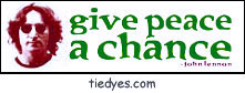 Give Peace a Chance Pacifist Political Peace Bumper Sticker