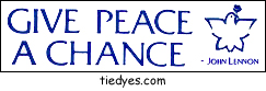 Give Peace A Chance White Anti-Bush Anti-War Peace Political Bumper Sticker