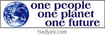 One People, One Planet, One Future Political Bumper Sticker