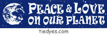 Peace and Love on Our Planet Ecological Peace Environmental Political Bumper Sticker