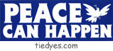 Peace Can Happen Peace Pacifist Political Bumper Sticker
