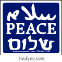 Peace in 3 Languages Sticker
