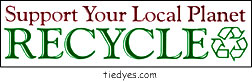 Support Your Local Planet RECYCLE Ecological Politcal Green  Environmental Bumper Sticker