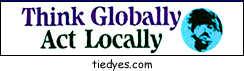 Think Globally, Act Locally Ecological Bumper Sticker