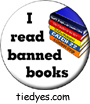 I Read Banned Books Liberal Democratic Political Magnet (Badge, Pin)