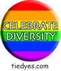 Celebrate Diversity Democratic Liberal Political Magnet (Badge, Pin)