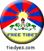 Free Tibet Liberal Democratic Political Magnet (Badge, Pin)